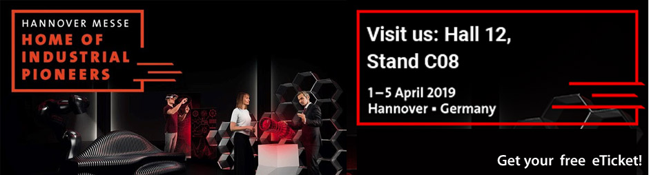 Visit us at HANNOVER MESSE 2019 exhibition in HANNOVER - Germany