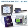 PFA5C13-92  EB 4 KIT X3M 96 H RS485 / NET 2DI 2DO WEB