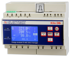 PFNK6-1QA19-121 KILO NET WI-FI EDA D6 PQ WEB 85÷265V 1DI 2DO ENERGY ANALYZER & WEB DATA MANAGER