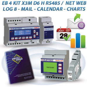 PFA5613-93  EB 4 KIT X3M D6 H RS485 / NET 2DI 2DO WEB MAIL CALENDAR CHARTS