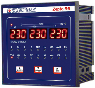 PFA8C11-02 ZEPTO 96 RS485 230-240V MULTIMETER / ENERGY ANALYZER