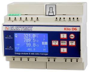 PFNK6-1Q519-A21 KILO NET D6 PQ WEB CHARTS 85÷265V 1DI 2DO ENERGY ANALYZER & WEB DATA MANAGER