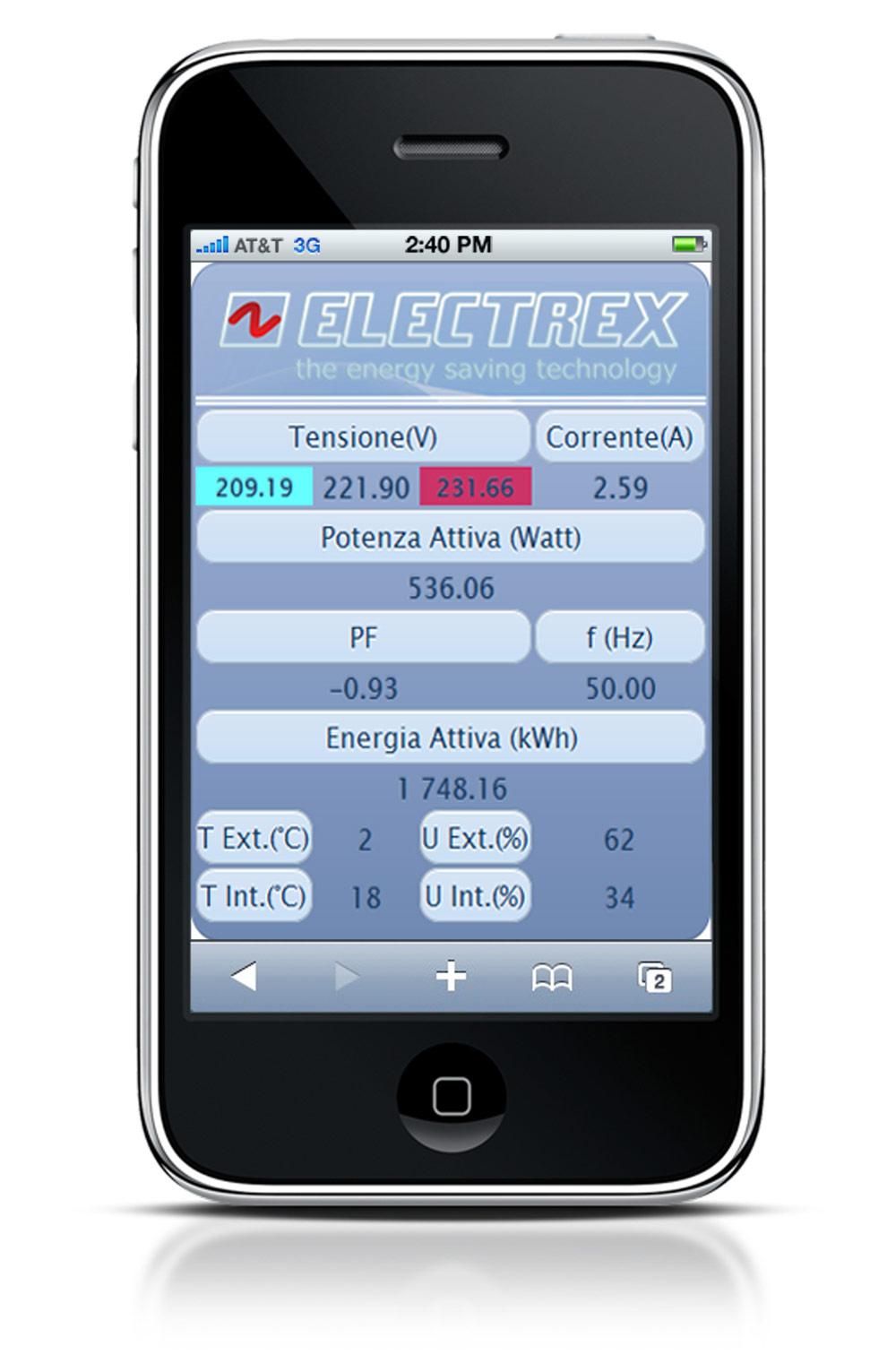 Electrex Dati su iPhone