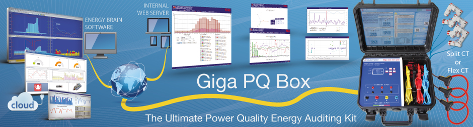 GIGA PQ BOX 85÷265V NET WEB - Power Quality Energy Analyzer & Web Data Manager trasportabile