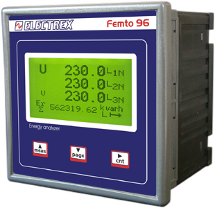 PFA6C11-02  FEMTO 96 RS485 230-240V ENERGY ANALYZER