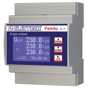 PFA64F1-D2-B FEMTO D4 F RS485 230-240V 2DI 2DO 4COMMON ENERGY ANALYZER