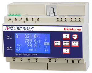 PFN66-EH509-110 FEMTO ECT NET D6 H WEB LOG 8 85÷265V ENERGY ANALYZER & WEB DATA MANAGER