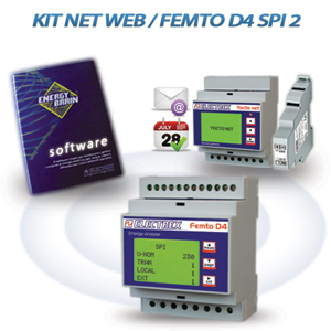 PKA0050-00  KIT NET WEB / FEMTO D4 SPI 2 ENERGY ANALYZER RS485 230-240V 1DI 2DO