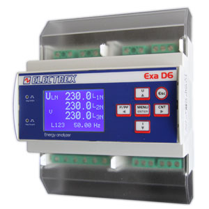 PFAE6M1-QA EXA MID D6 RS485 85-440V 2DI 2DO ENERGY ANALYZER