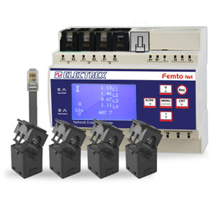 PFN66-H0508-A10 FEMTO 4HALL NET D6 DC WEB LOG 8 CHARTS 18-60VDC ENERGY ANALYZER & WEB DATA MANAGER